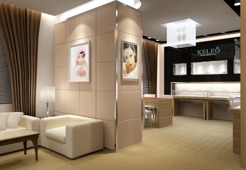 香港KELEO珠宝店展示柜设计效果图