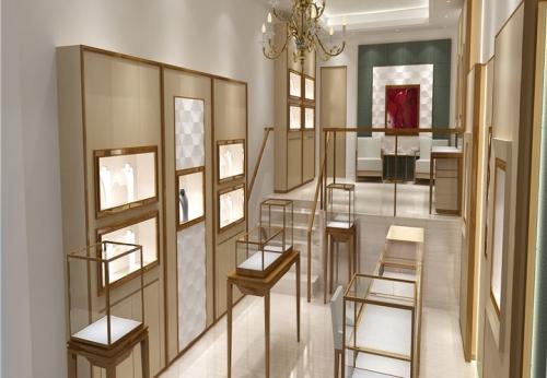 订做不锈钢、烤漆、玻璃珠宝展示柜