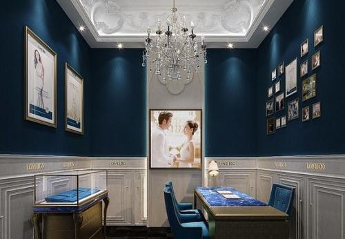 欧式风格珠宝展厅效果图