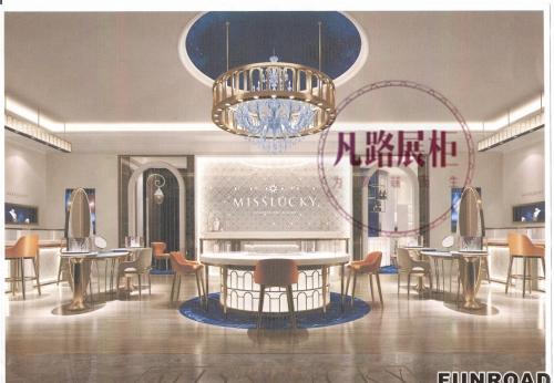 东莞130平米珠宝店不锈钢展柜定制项目