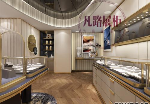 深圳珠宝展柜定制厂家,慕恩澜珠宝展柜方案效果图
